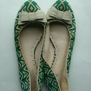 Green and white flats